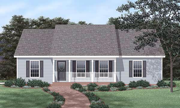 Ranch , Elevation of Plan 45468