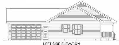 Ranch House Plan 45468 with 3 Beds, 2 Baths, 2 Car Garage Picture 1