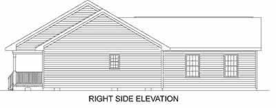 Ranch House Plan 45468 with 3 Beds, 2 Baths, 2 Car Garage Picture 2