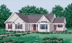 House Plan 45469 | Traditional Style Plan with 1797 Sq Ft, 3 Bedrooms, 2 Bathrooms Elevation