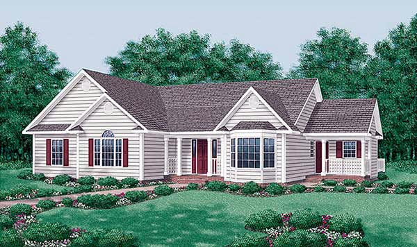 Traditional House Plan 45469 Elevation