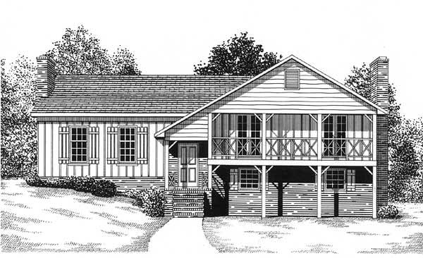 Traditional House Plan 45471 Elevation
