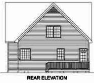Cape Cod House Plan 45472 Rear Elevation