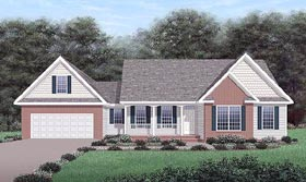 Traditional House Plan 45474 with 3 Beds, 2 Baths, 2 Car Garage Elevation