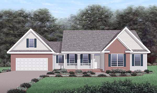 Traditional House Plan 45474 Elevation
