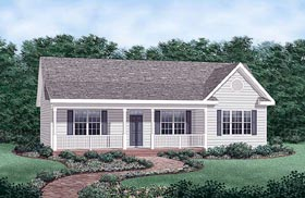 Country Ranch Traditional House Plan 45476 Elevation