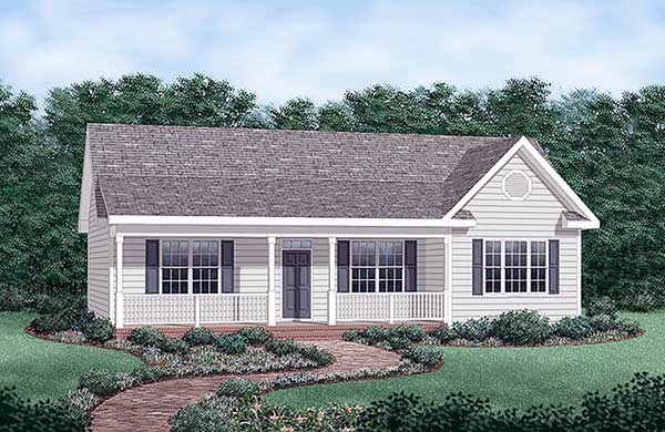 Ranch House Plan 45476 Elevation