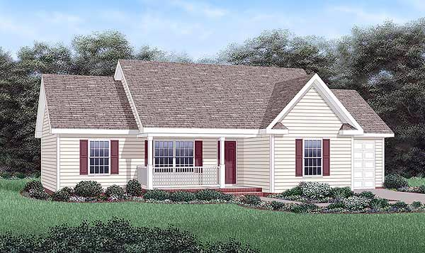 Ranch House Plan 45477 Elevation