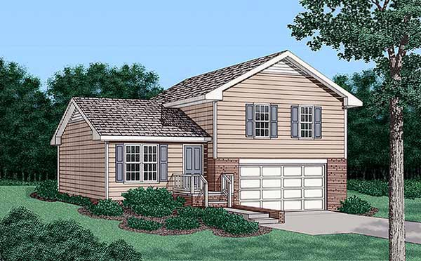 Traditional , Elevation of Plan 45478
