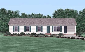 Ranch House Plan 45481 Elevation