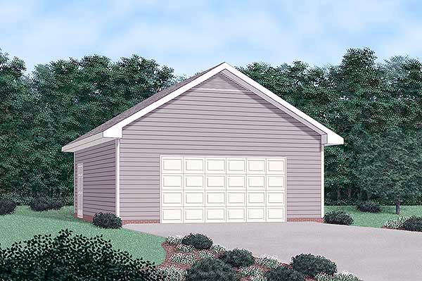 2 Car Garage Plan 45482 Elevation