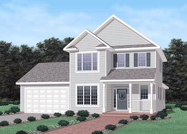 Traditional House Plan 45484 with 3 Beds, 3 Baths, 2 Car Garage Elevation