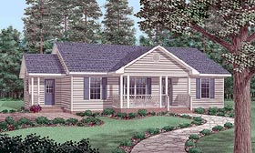 Ranch House Plan 45486 Elevation