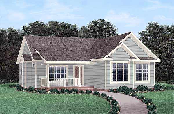 Ranch House Plan 45490 Elevation