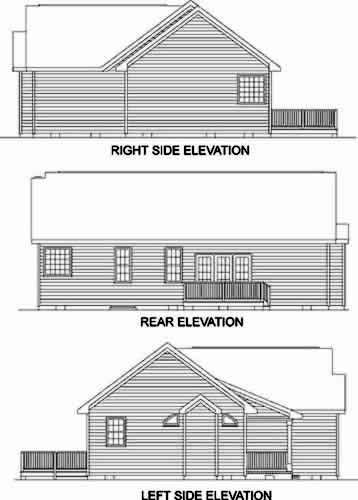 Ranch House Plan 45490 Rear Elevation