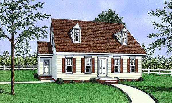 Cape Cod House Plan 45491 Elevation