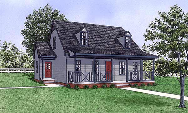 Cape Cod House Plan 45492 Elevation