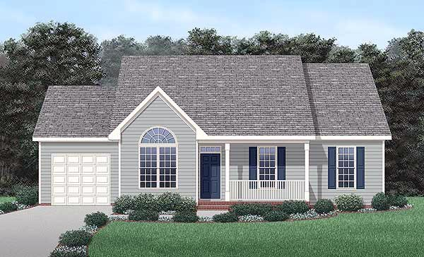Traditional House Plan 45493 Elevation