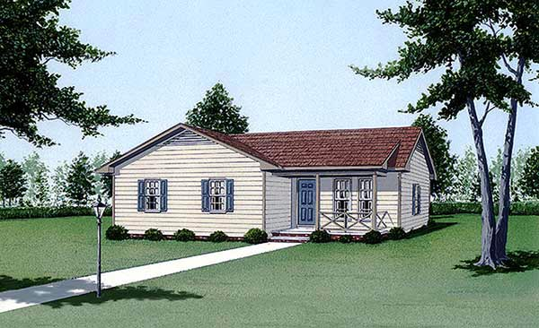 Traditional House Plan 45496 Elevation