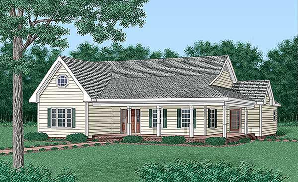 Traditional , Elevation of Plan 45500