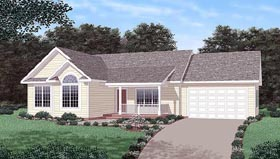 Traditional House Plan 45501 Elevation