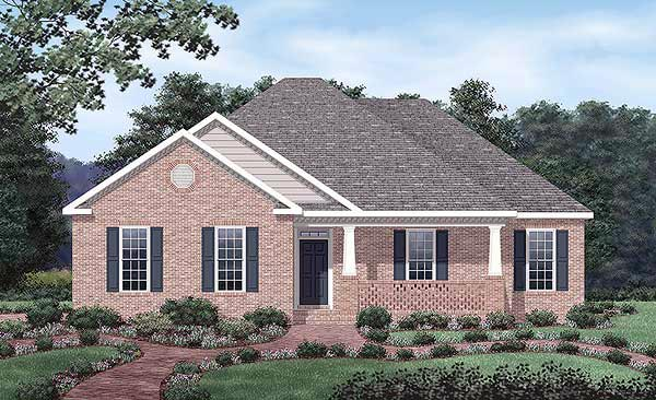 European House Plan 45505 Elevation