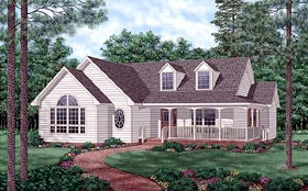 Country House Plan 45509 with 3 Beds, 2 Baths Elevation