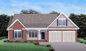House Plan 45511 Elevation