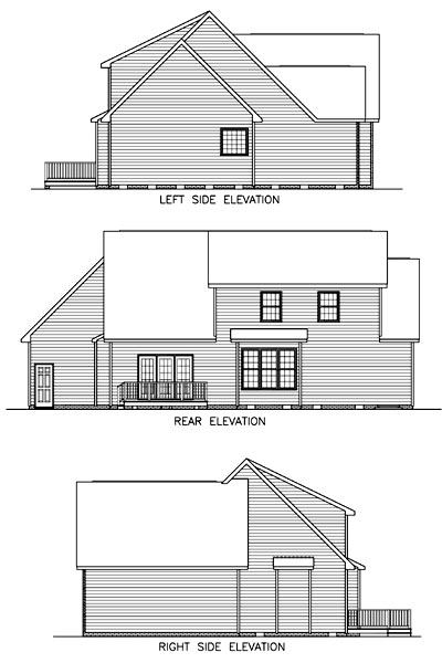 House Plan 45511 Rear Elevation