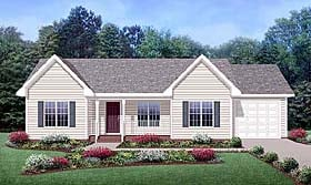 Country Ranch House Plan 45515 Elevation