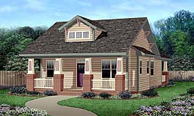 Bungalow , Craftsman House Plan 45516 with 3 Beds, 2 Baths Elevation