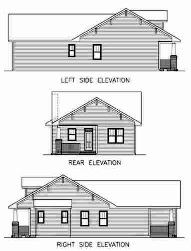 House plan 45516 at for Bungalow plans and elevations