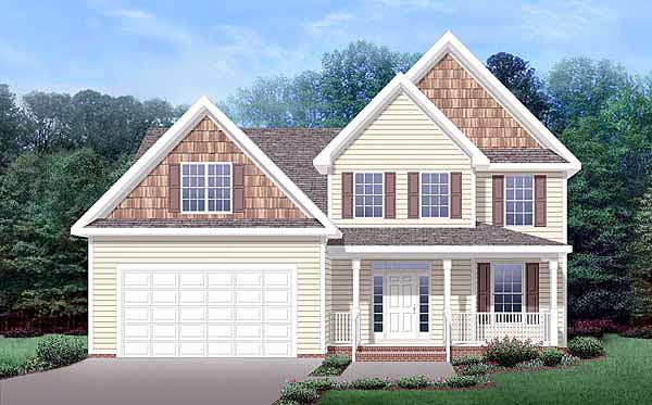 House Plan 45518 | Craftsman Style Plan with 1803 Sq Ft, 3 Bedrooms, 3 Bathrooms, 2 Car Garage Elevation