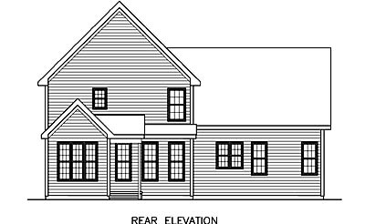 House Plan 45518 | Craftsman Style Plan with 1803 Sq Ft, 3 Bedrooms, 3 Bathrooms, 2 Car Garage Rear Elevation