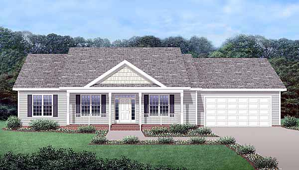Craftsman Traditional Elevation of Plan 45519