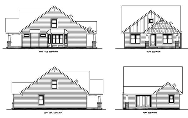 Traditional House Plan 45520 Rear Elevation