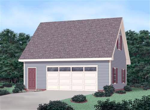 Garage Plan 45522 | Style Plan, 2 Car Garage Elevation