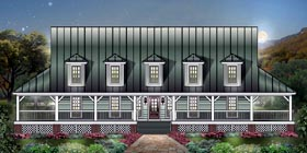 Country House Plan 45606 Elevation