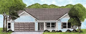 Ranch House Plan 45613 Elevation