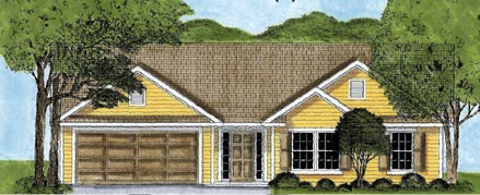 Ranch House Plan 45615 Elevation