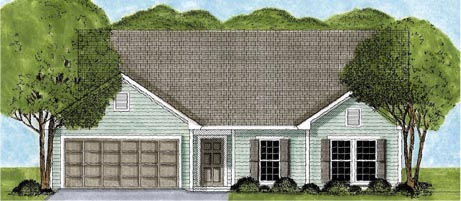 Ranch House Plan 45617 Elevation