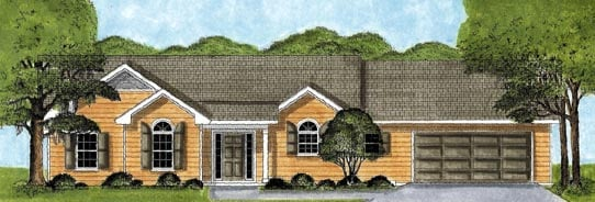Ranch House Plan 45619 Elevation