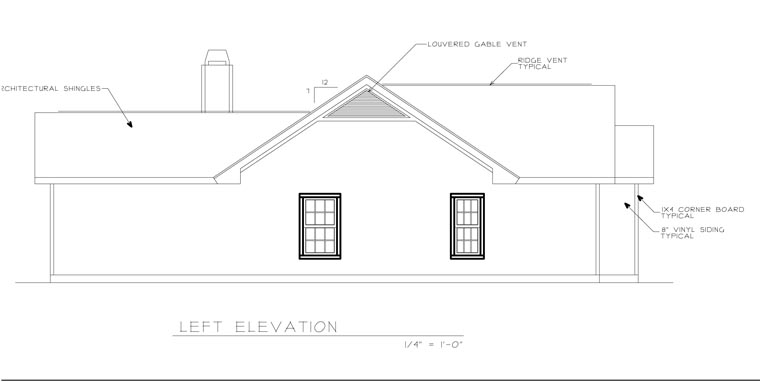 Ranch House Plan 45619 with 3 Beds, 2 Baths, 2 Car Garage Picture 1