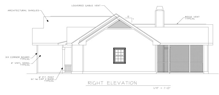 Ranch House Plan 45619 with 3 Beds, 2 Baths, 2 Car Garage Picture 2