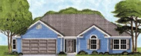 European Traditional House Plan 45620 Elevation