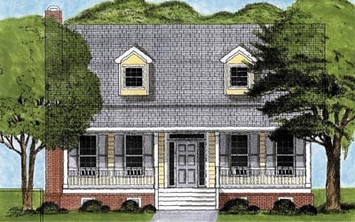 Cape Cod House Plan 45622 Elevation