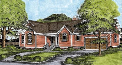 Ranch House Plan 45623 Elevation