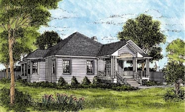 One-Story Elevation of Plan 45624