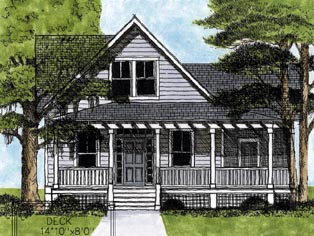Country Farmhouse House Plan 45627 Elevation