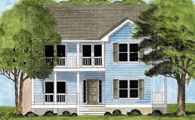 Country Traditional House Plan 45630 Elevation